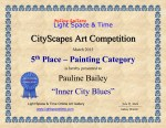5th Place, Painting category - CITYSCAPES 2015 ART COMPETITION CERTIFICATE, Florida USA
