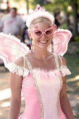 lady in flamingo costume