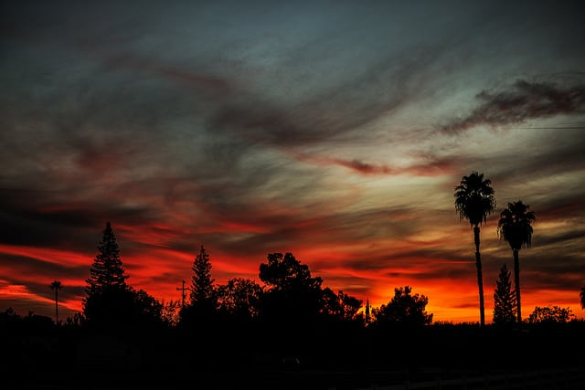 sunset over Rosedale CA