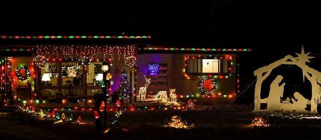 christmas display in Cody
