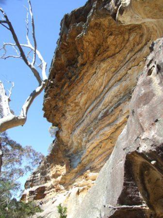 Wind-eroded cave, Blackheath