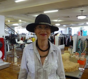 Pauline Conolly shopping for hata
