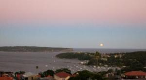Full moon over Sydney Heads. The answer to everything?