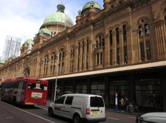 The Queen Vic building takes up a whole city block.