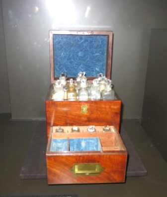 Travelling Medicine chest which belonged to Governor Macquarie's son and probably to the Governor before that.