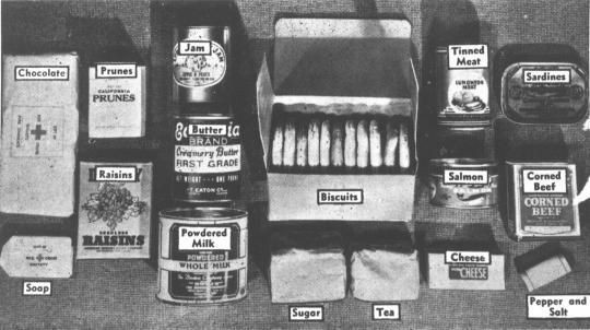 Australian Red Cross comfort parcels,