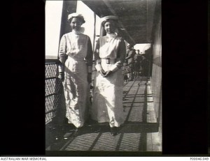 Sisters King and Ratcliff, two brave WWI nurses.