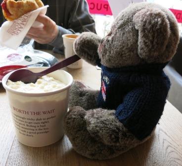 Yum! Take-away porridge.