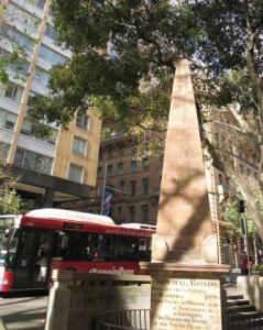 The old Obelisk in Macquarie Square