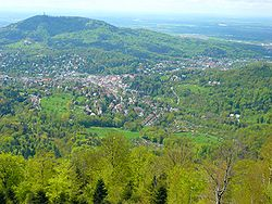 Baden-Baden in the foothills of the Black Forest.