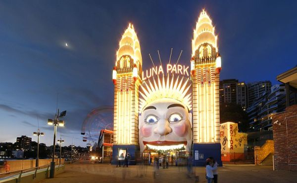 ICONIC ENTRANCE TO LUNA PARK, SYDNEY
