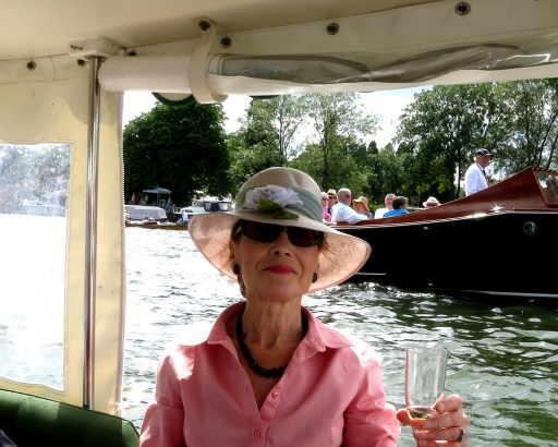 Out on the river. My champagne toast to to all Australian competitors.