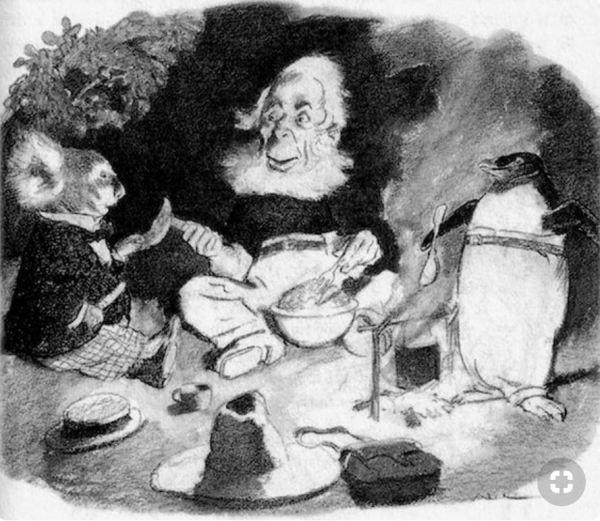 Magic Pudding feast.