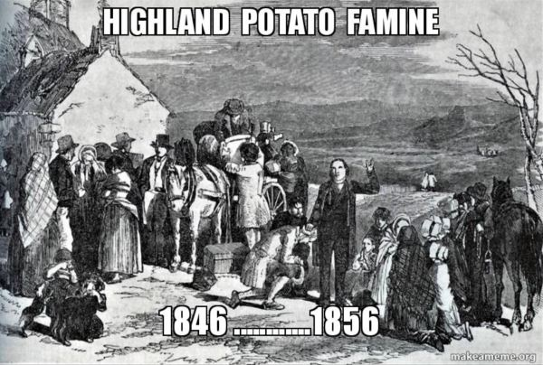 Scottish Highlands Potato Famine