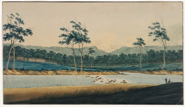 The Hawkesbury painting by Evans.