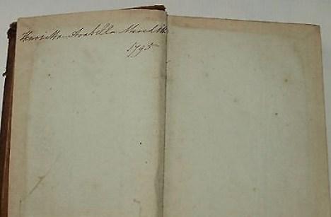 Henrietta Arabella Meredith, 1795...lifelong friend of Elizabeth Macquarie.