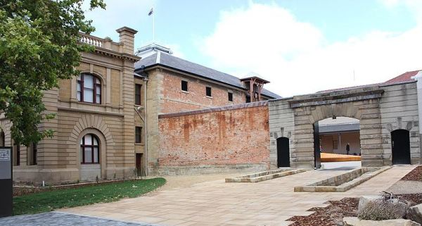 Entrance to the Tasmanian Museum and Art Gallery, where the miniatures are held,