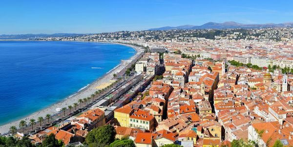 Overlooking beautiful Nice, and the Promenade des Anglais (Wikipedia)