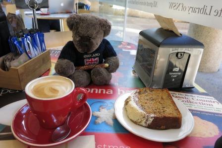 Pauline's passion, coffee and cake.