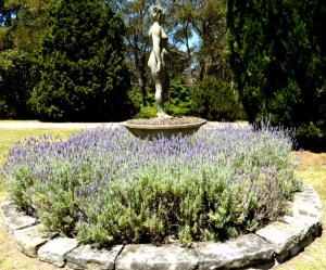 Lady in lavender at the home of Norman Lindsay.
