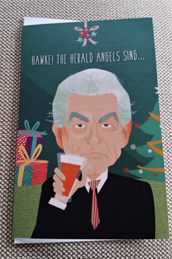 Bob Hawke Christmas Card