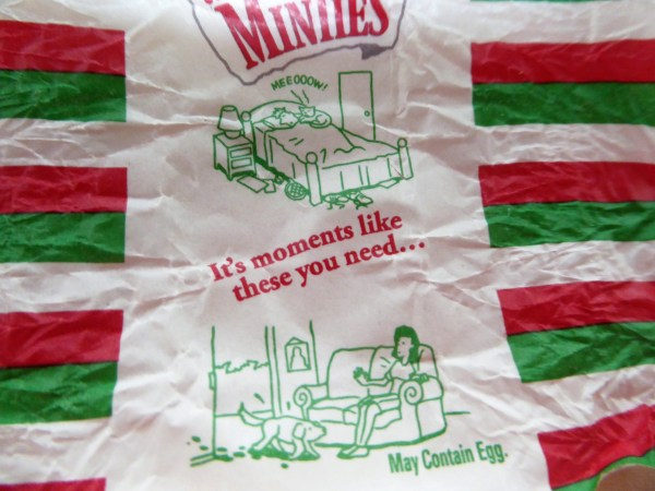 Minties, as famous for the wrapper as the lolly!