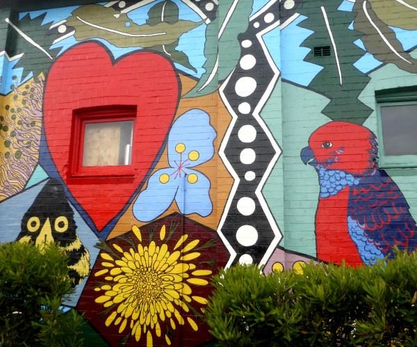 Jenny Kee mural, Blackheath