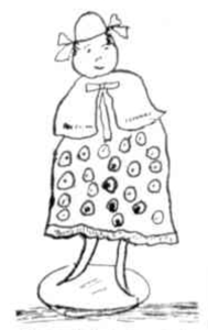Drawing of peg doll