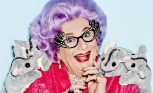 Dame Edna with possums