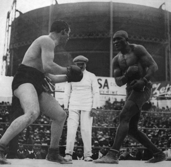 Tommy Burns, Jack Johnson fight 1908