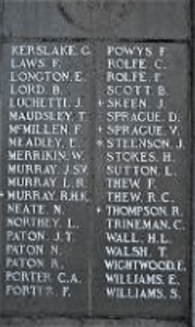 Men from Blackheth who served in WWI