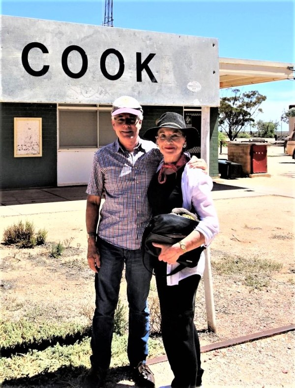 Rob and Pauline Conolly at Cook in South Australia