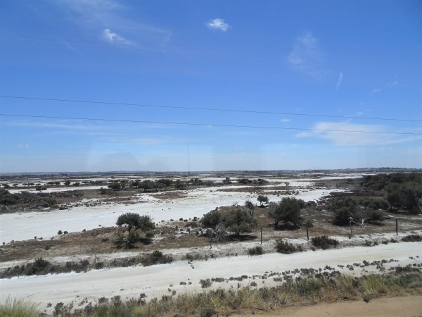 Salt pans on the Nullarbor