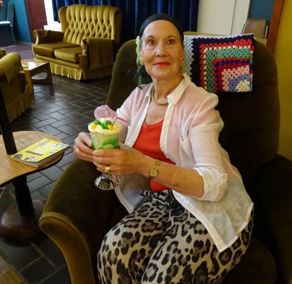 Pauline Conolly at Aunty Jacks, Katoomba