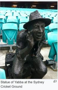 Famous  Sydney cricket ground heckler known as  Yabba.