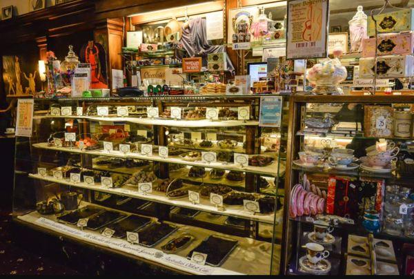 Paragon Cafe chocolate counter