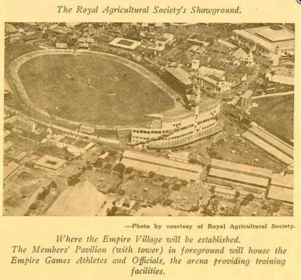 Empire Games village at Sydney Showground in 1938