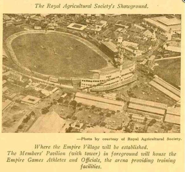 Empire Games village at Sydney Showground in 1938