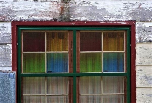 Decortive glass windows at Blackheath.