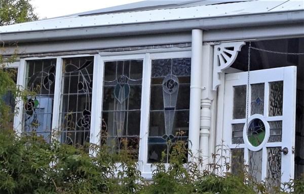 Leadlight casement windows at Blackheath