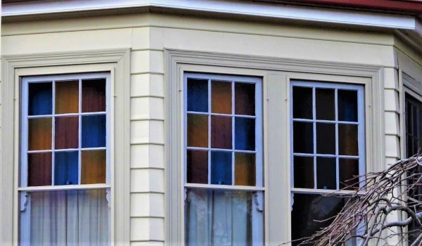 Coloued glass windows at Blackheath NSW