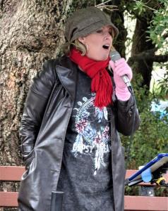 Singer at Blackheath Farmer's Market.