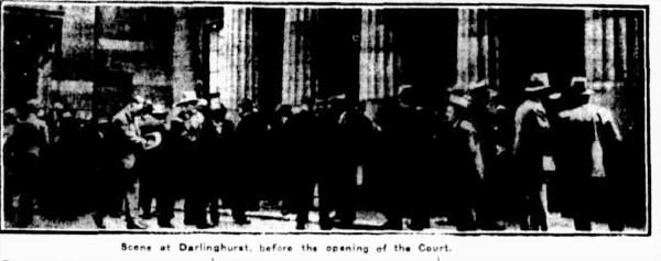 Darlinghurst criminal court before Higgs Bros. trial.