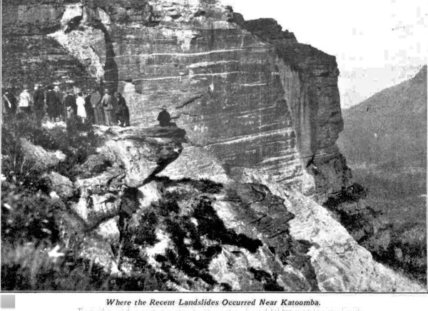 Rock fall at KatoombaMy 1931