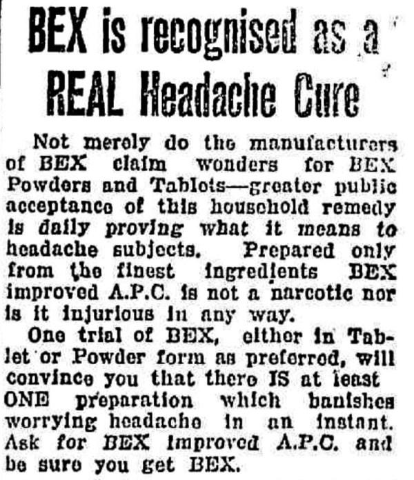 Bex advertisement 1930s