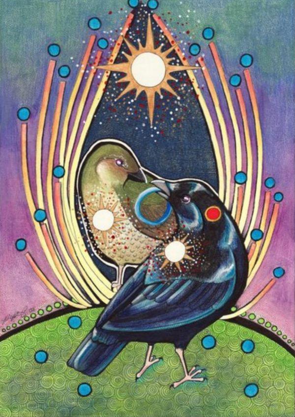 Bowerbird courtship