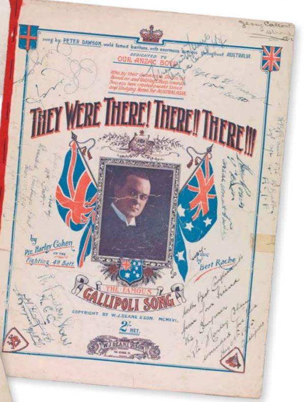 Harley Cohen's Gallipoli Song.