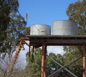 Water tanks on the Putty Road