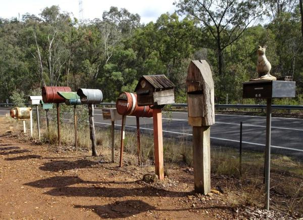 Rural mail boxes on the Putty Road