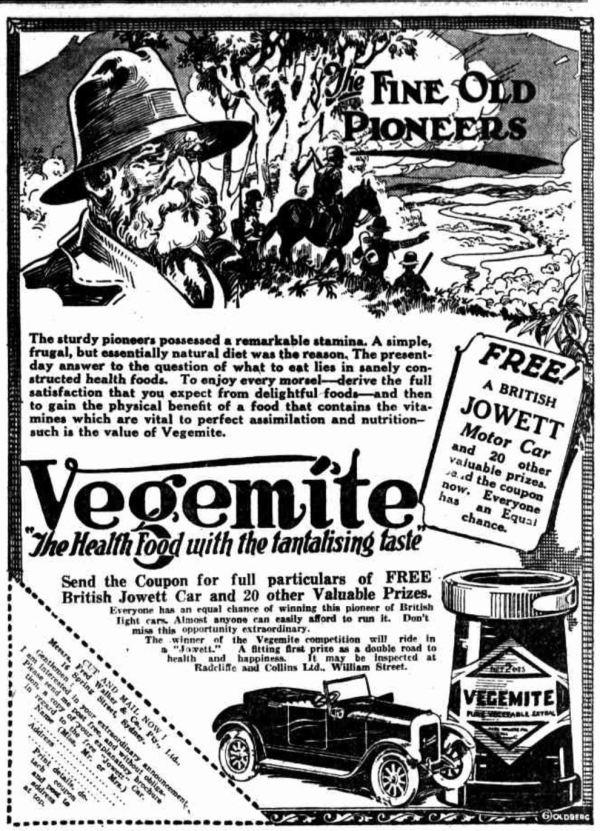 Vegemite competition.